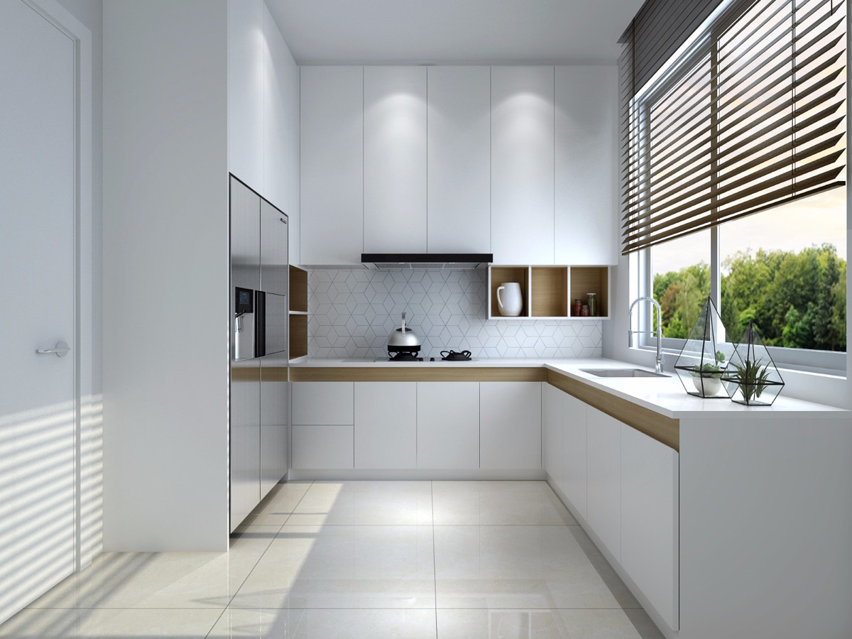 kutchina L SHAPED KITCHEN WITH WINDOW